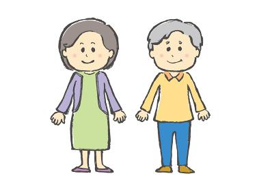 人物、人、シニア、老人、夫婦、おじいさん、おばあさん