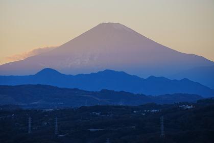 湘南平からの富士山の夕景