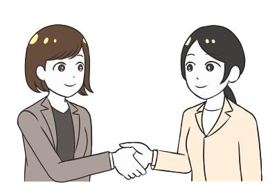 握手をする ビジネス 女性