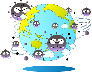 新型コロナウイルスに感染された世界
