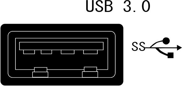 USB3.0のコネクター「シルエット」