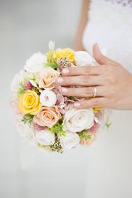結婚指輪とウェディングブーケ