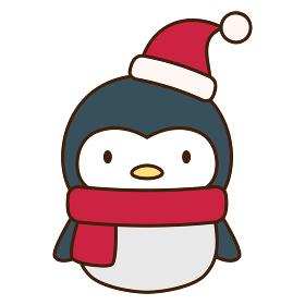 かわいいペンギンのクリスマス向けキャラクター