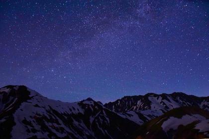 満天の星空 北アルプス / 立山連峰
