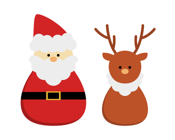 サンタクロースとトナカイのイラスト