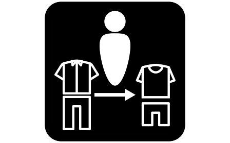 着替えのシンプルなアイコンイラスト