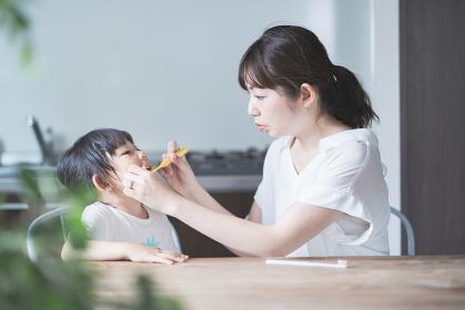 親子で歯磨き