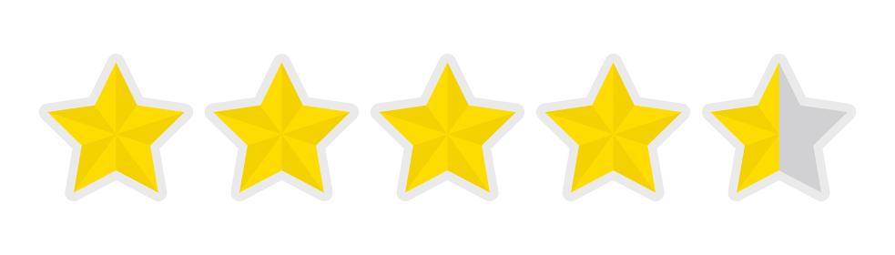 5つ星 評価 アイコン 4.5点