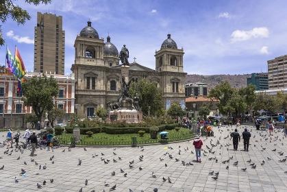 ラパスのムリリョ広場