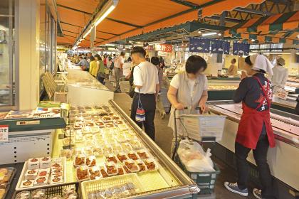 センター 万代 島 鮮魚