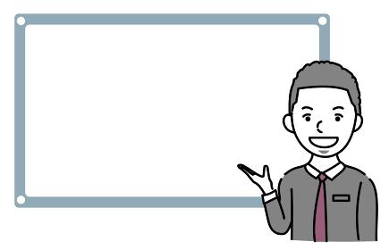 説明するビジネスパーソン外国人男性のイラスト素材