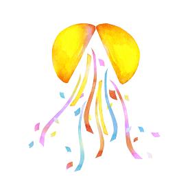 くす玉 運動会 イベント お祝い 水彩 イラスト