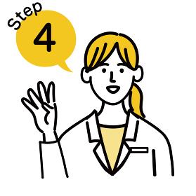 医師 医者 女性 ポップ ステップ 4