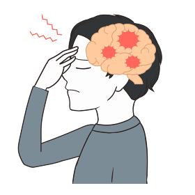 脳の断面図 頭痛 男の子