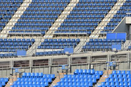 無観客のスタジアム