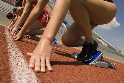 Runners Preparing For Race