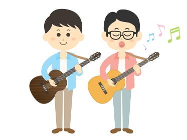 男性ミュージシャンバンドのイラスト
