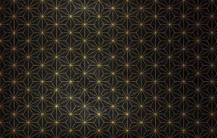 黒の和紙に金色の模様がある和風背景素材