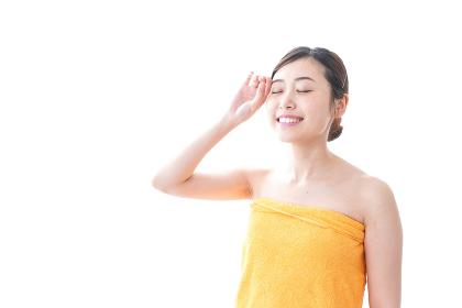 入浴後の女性