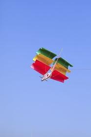 帆船の凧揚げ