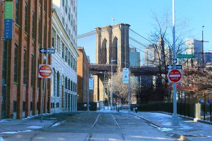 ブルックリンブリッジ ニューヨーク アメリカ合衆国