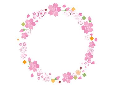 春の桜の花素材