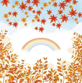 紅葉の木々と紅葉