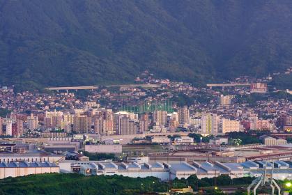 皿倉山と黒崎、八幡の北九州都市夜景