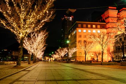 イルミネーションの綺麗な冬の門司港レトロ(福岡県北九州市)