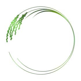 稲穂のフレームイラスト 緑