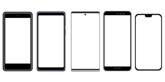 イラスト素材 スマートフォン 携帯電話 携帯 スマホ 透明 透過 画面透過 電化製品 ベクター