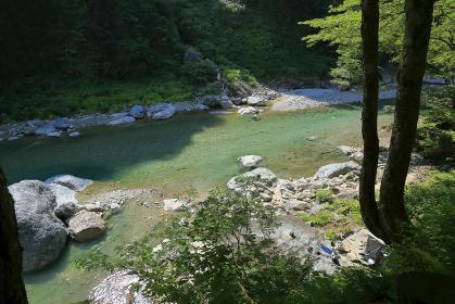 黒部峡谷 鐘釣 河原露天風呂