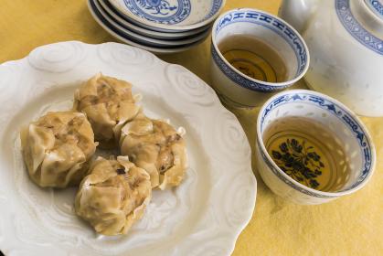 シュウマイと中国茶