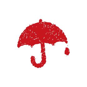 スタンプ・ゴム印 アイコン (雨・傘・雨の日)
