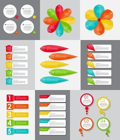 Big Set of Infographic Banner Templates for Your Business Vector Illustration. Big Set of Infographic Banner Templates for Your Business Vector