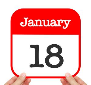 January 18 written on a calendar