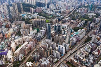 Kowloon city, Hong Kong, 24 September 2018:- Hong Kong residential area