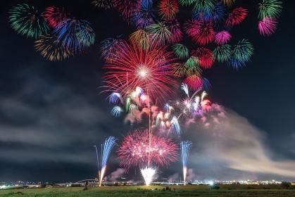 山梨県・神明の花火 2018
