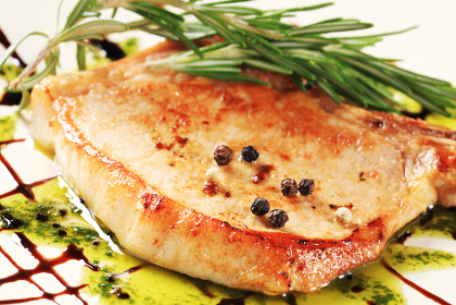 Pan-roasted pork chop