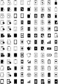 スマートフォンのアイコンセット