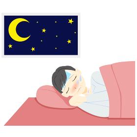 体調不良 熱 寝る ミドル 女性