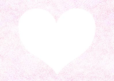 優しいホワイトピンクのフレーム ハート型