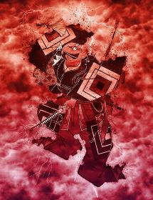 浮世絵 歌舞伎役者 その49 赤い嵐バージョン