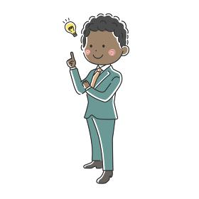 提案する黒人ビジネスマンのイラスト