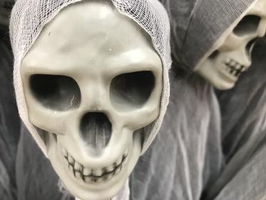 ガイコツの死神、ハロウィンイメージ、ホラー