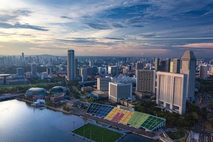 シンガポール・サンズスカイパークからの風景