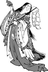 浮世絵 巫女 その2