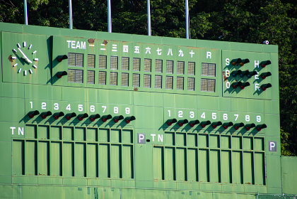 野球場のスコアボード