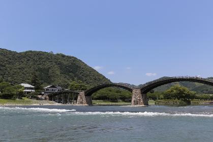 錦帯橋と岩国城 山口県岩国市