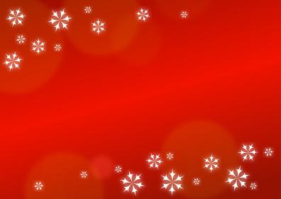 雪の結晶と赤いクリスマス背景